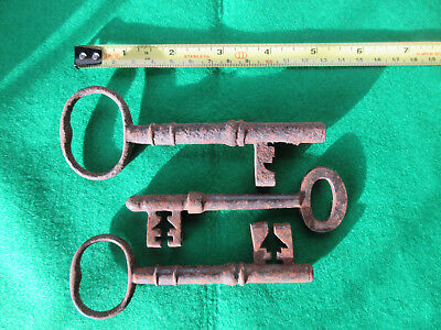 Three Large Antique Keys