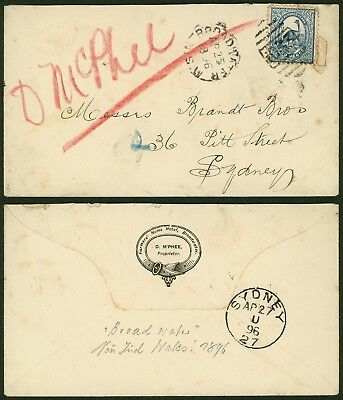 Australia New South Wales 1896 - Cover to Sydney 20580