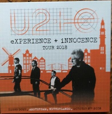 "U2 ""experience + Innocence Tour 2018"" Rare Double Cd Live In Amsterdam Neuf !"
