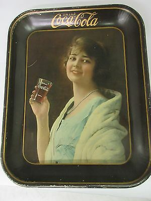 Authentic Coke Coca Cola 1923 Girl Advertising Serving Tin Tray M-170