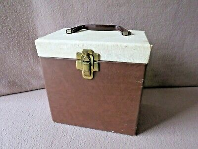 "Vintage 1950s ""45 RPM  RECORDS STORAGE CASE"":  7 3/4"" X 4 7/8"" X 8"":  VERY NICE!"