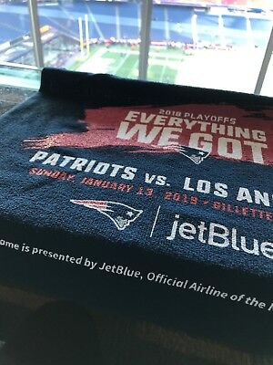 New England Patriots Rally Towel 2019 Playoffs Vs LOS ANGELES JANUARY 13 2019