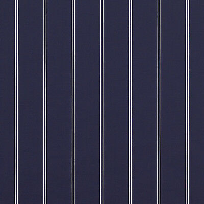 """Sunbrella Cooper Navy 4987-0000 Outdoor Fabric By The Yard Blue Stripe 46"""" Wide"""