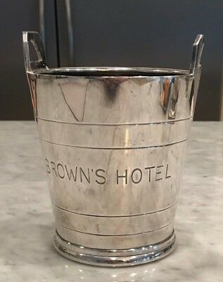 Vintage Brown's Hotel Silver Plated ICE BUCKET
