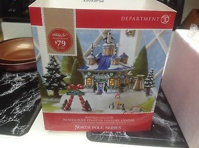 Dept 56 North Pole penguin center preowned
