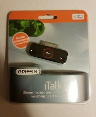 Griffin iTalk Pro Steroe Microphone for Recording to Your iPod BRAND NEW
