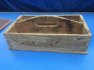 Vintage Wooden Trug,Tidy Tray,Worn Garden Tool Box .Made In Denmark
