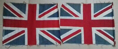 "TWO used Vintage  12"" union flags"