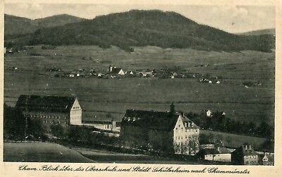 Germany AK Cham 93413 - Oberschule old real photo sepia postcard