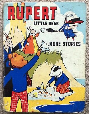 MARY TOURTEL LITTLE BEAR MORE STORIES RUPERT 1939 with Cut-Outs No Frontispiece