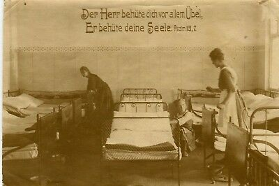 Germany Orphanage Dormitory old real photo sepia postcard