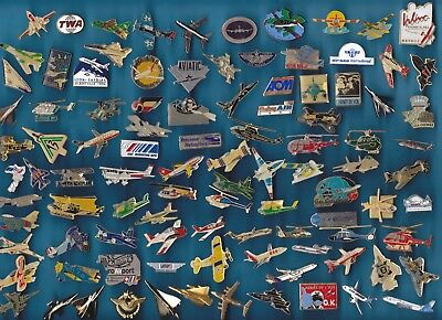 Lot De 100 Pin's Aviation Avions Jet Plane Aircraft Air ++++++++++++++++++++++