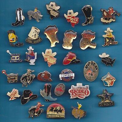 Lot De 32 Pin's Cowboy Rodeo Texan Western Cow Boy +++++++++++++++++++++++++++