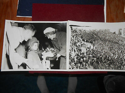 Lot Of 2 Political Pictures Rally 1960 Henry Cabot Lodge & Wife York, Pa