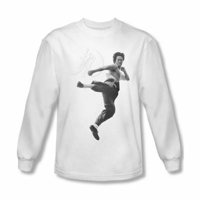 Bruce Lee FLYING KICK Licensed Adult T-Shirt All Sizes
