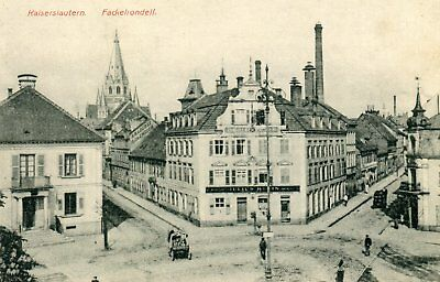 Germany AK Kaiserslautern - Fackelrondell old postcard from booklet