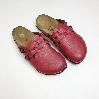 fabc782f7e74 BIRKIS BY BIRKENSTOCK Red Leather Santosa Sandals Size 39 L8 M6 ...