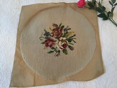Beautiful Vintage Tapestry Needlepoint Panel, ideal for cushion.