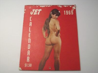 1969 JET Magazine Cheesecake Calendar with Black African American Models