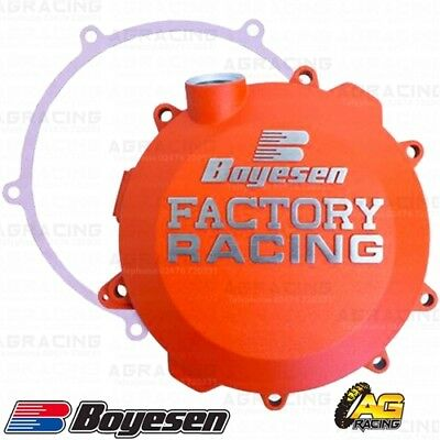 Boyesen Factory Racing Orange Clutch Cover For Husqvarna TX 300 2017