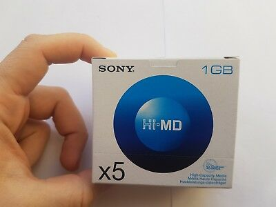 SONY Hi-MD New sealed pack(5pcs)