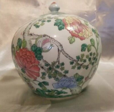 Fine Antique Late Qing Chinese Famille Rose Porcelain Ginger Jar W/ Lid