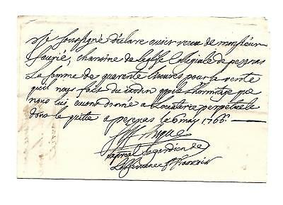 """Orig. 18thc FRENCH """"DOCUMENT"""" dated 1766"""