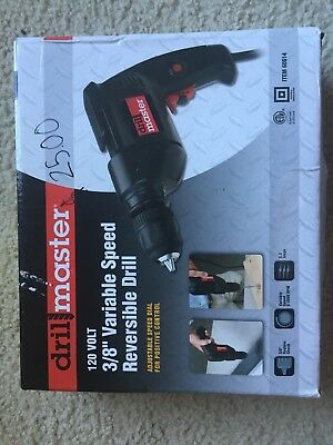 NEWBlack and Red Drillmaster 120 Volt 3/8th Inch Variable Speed Reversible Drill