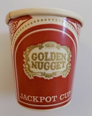 Golden Nugget Hotel and Casino Coin Cup Paper Slots Atlantic City HTF Rare