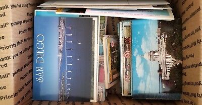 Postcards Random Vintage Lot ~ 450, U.S. View Post Cards, 1960's mostly 1970's