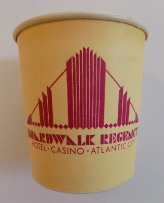 Boardwalk Regency Hotel and Casino Coin Cup Paper Slots Atlantic City HTF Rare