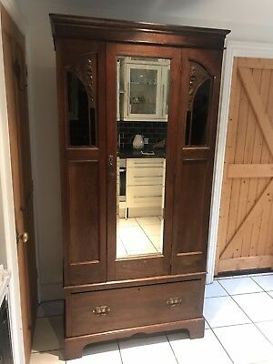 Antique Arts and Crafts Wardrobe