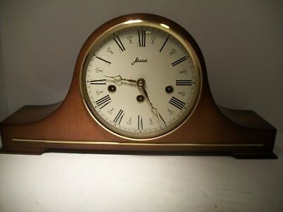 Vtg Running German W. Haid Mantle Clock ~ Westminster Chimes W/ Original Key