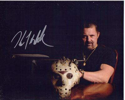 Kane Hodder Rare Friday The 13Th Signed 8X10 Jason Voorhees Photo With Coa