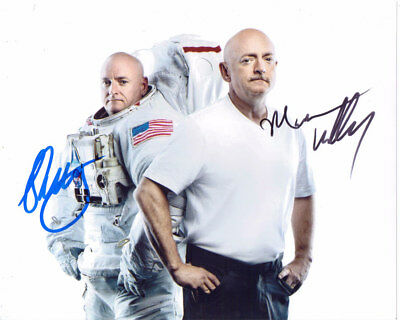 Scott And Mark Kelly Nasa Astronauts Signed By Both 8X10 Photo With Coa