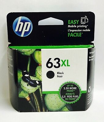 HP Genuine NEW 63XL Black Inkjet Cartridge For HP ENVY 4512, 4513, 4520, 4523