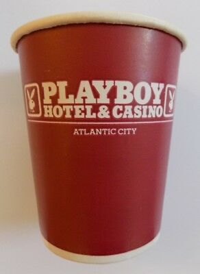 Playboy Hotel Casino Coin Cup Bunny Paper Slot Machine Atlantic City HTF Rare
