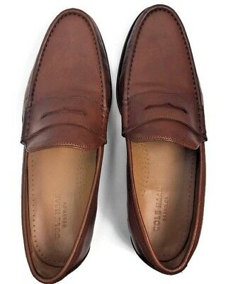 c37bcc42ece Cole Haan Aiden Grand II Penny Loafer Shoes in British Tan Leather Men Sz  10 M