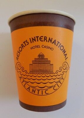 Resorts International Hotel Casino Coin Cup Paper Yellow Atlantic City HTF Rare