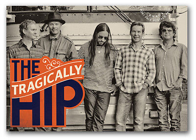 THE TRAGICALLY HIP = rock band = Canadian recording artists POSTCARD Canada 2013