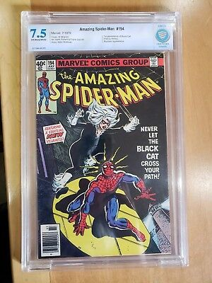 Amazing Spider-man #194 Marvel Comics CBCS 7.5 1975 1st Black Cat (Hardy)
