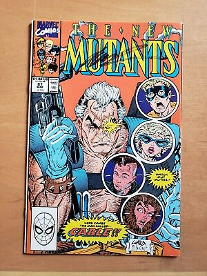 The New Mutants #87 (1st app of Cable) (Signed By Rob Liefeld)(Mar 1990, Marvel)