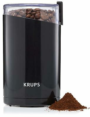 KRUPS F203 Electric Spice Coffee Grinder with Stainless Steel Blades, 3 oz Black