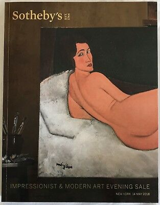 SOTHEBY'S NY - Impressionist and Modern Art Evening Sale May 14, 2018 Modigliani