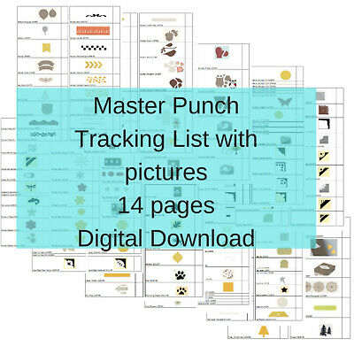 13 pg. Stampin Up Tool Inventory Tracking List Master Punch Reference
