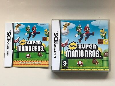 Super Mario Bros Empty Nintendo Ds Box And Instruction Manual/booklet
