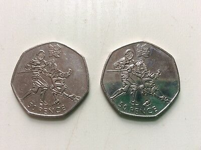 Olympic 50p Coin Fencing 2012