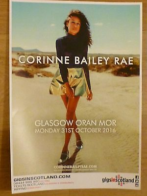 Corinne Bailey Rae - Glasgow oct.2016 tour concert gig poster