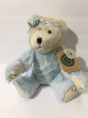 Vintage 90s 1999 Boyds Bear Gwain Twin Baby Blue Victorian Jointed