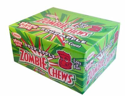 Zombie Chews - Sour Apple (60 bars in a Display Unit)